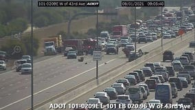Three hospitalized after Loop 101 crash in North Phoenix