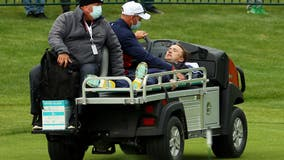 Actor Tom Felton carted off course during Ryder Cup celebrity match