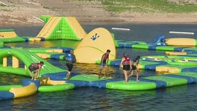 Slip, slide and swim: Large inflatable obstacle course opens on Lake Pleasant