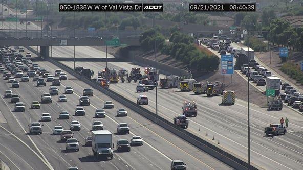 ADOT: Traffic lanes reopened along US 60 near Val Vista following crash