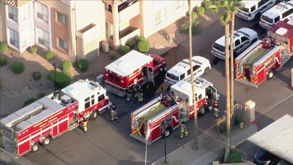 PD: Arson investigation underway after West Phoenix apartment complex catches fire; suspect hospitalized