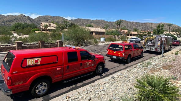 Firefighters rescue man who broke hip, leg on South Mountain