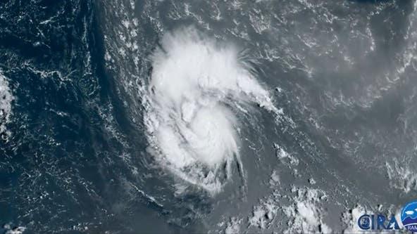 Hurricane Sam now a Category 4 storm; Teresa dwindling