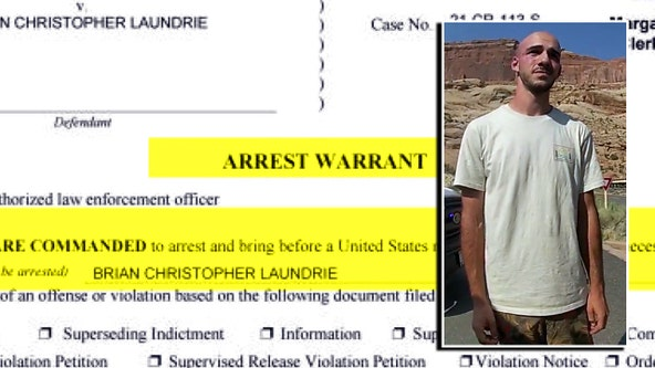 Arrest warrant issued for Brian Laundrie for 'unauthorized use' of credit cards related to Gabby Petito case