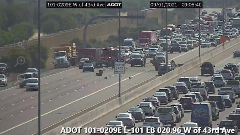 A crash on Loop 101 in North Phoenix