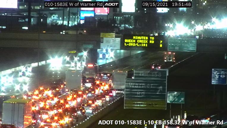 3-car crash at I-10 and Warner Road in Phoenix on Sept. 15