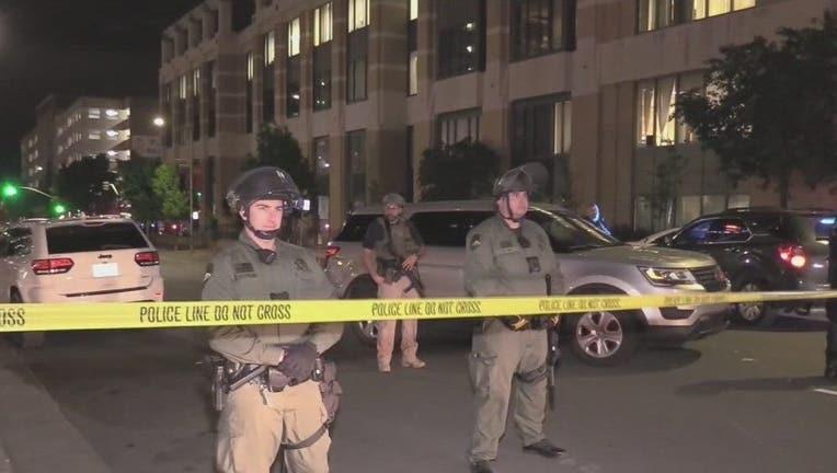 Federal officer shot