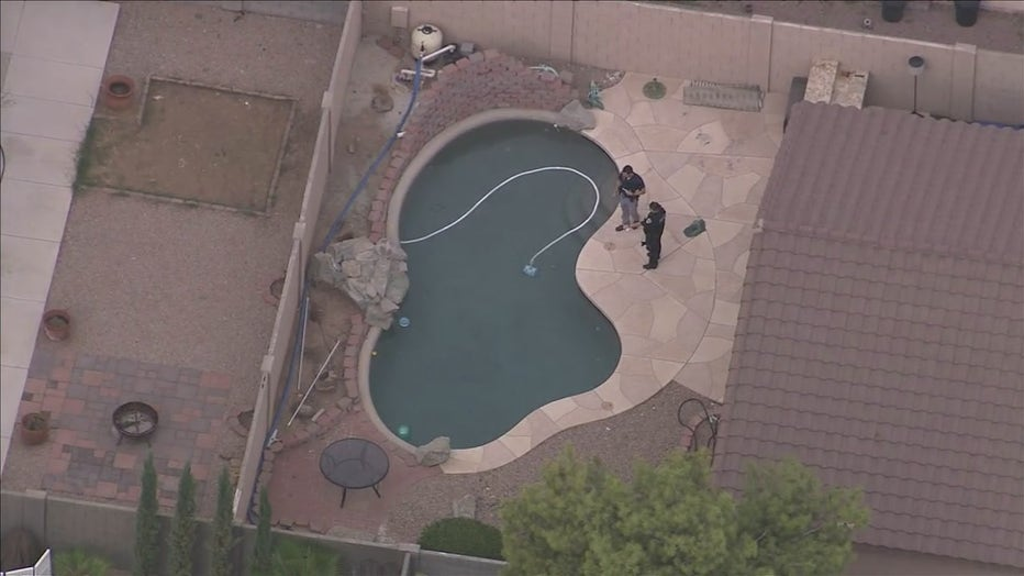 An investigation is underway after a child nearly drowned in a Chandler pool