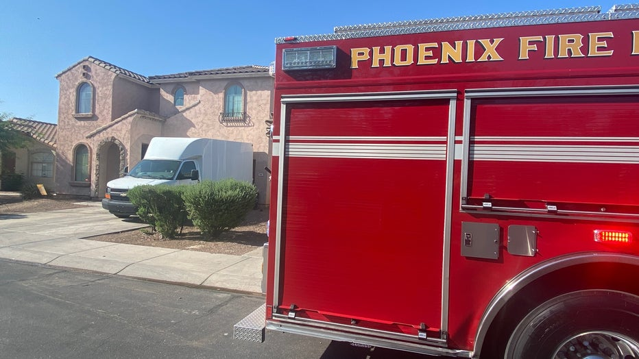 House fire in Phoenix on Sept. 13, 2021. Photo courtesy of the Phoenix Fire Department