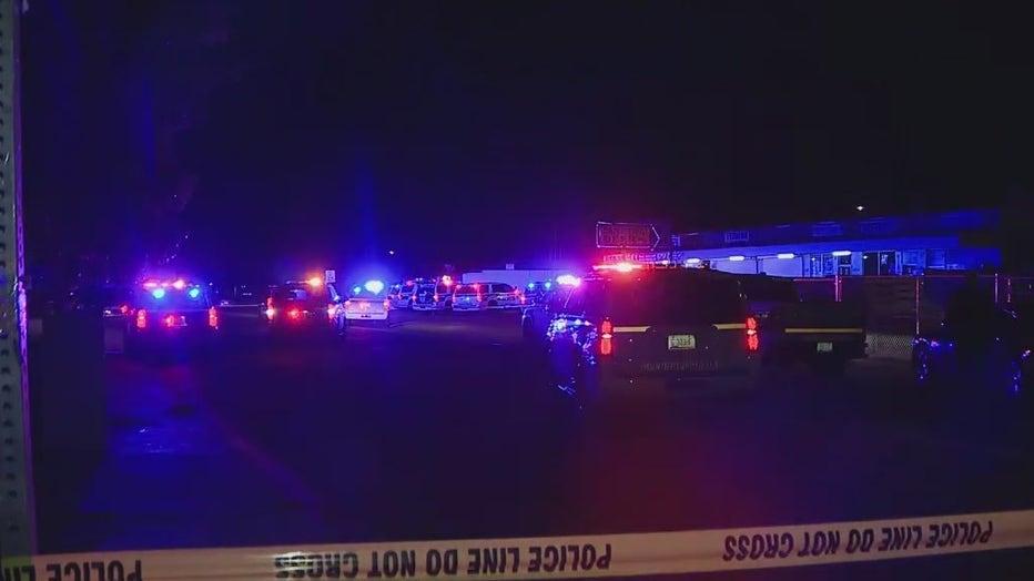 Scene of an officer-involved shooting in Glendale