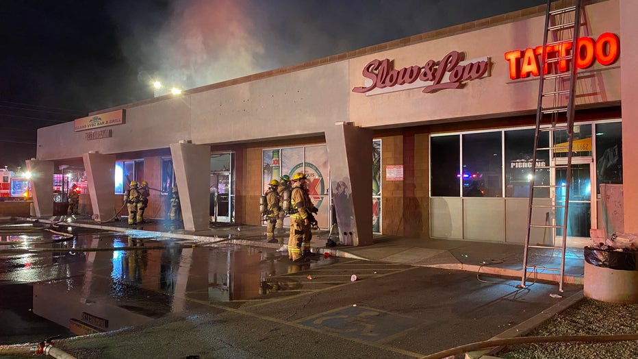 The aftermath of a fire that broke out at a South Phoenix restaurant on Sept. 25.
