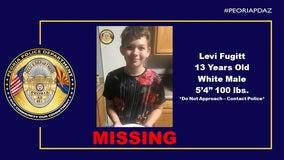 Peoria Police locate missing 13-year-old teen Levi Fugitt