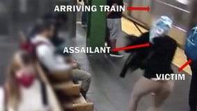 Woman shoved into NYC subway train, suspect arrested