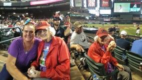 92-year-old longtime Arizona Diamondbacks fan attends her first game