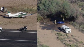 2 dead after helicopter crashes in Chandler following mid-air collision with plane