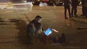 'First responders are amazing': Firefighter reads to girl who survived car crash