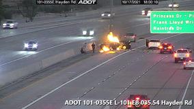 Loop-101 in Scottsdale reopens following fiery, fatal crash near Hayden Road on-ramp