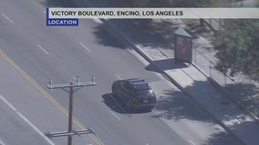 Suspect in custody after leading officers on pursuit through San Fernando Valley