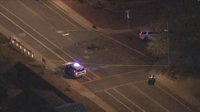 Man in life-threatening condition after crash involving police officer in north Phoenix