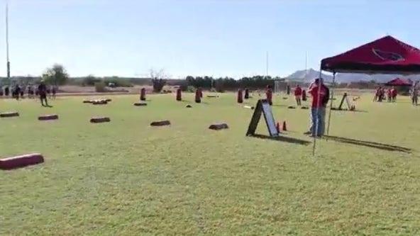 Arizona Cardinals donates new football field, scoreboard to Queen Creek school