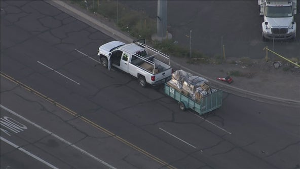 Man critically injured after being hit by truck in Phoenix