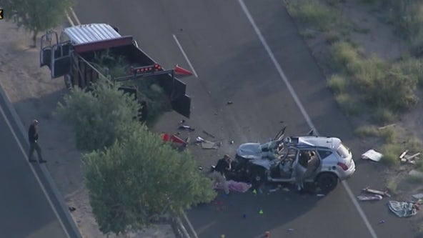 Worker killed, driver badly hurt in North Phoenix crash involving company truck