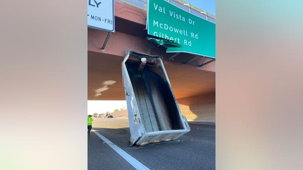 Loop 202 in Mesa reopens after large object gets wedged under overpass
