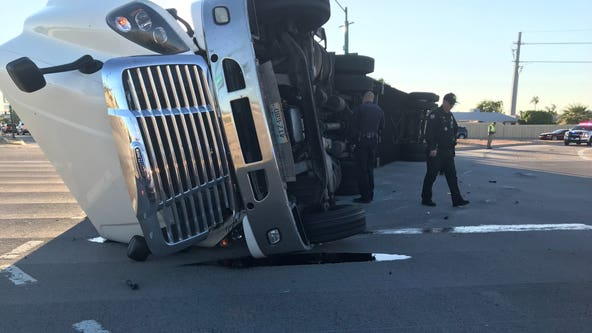 State Route 51 off-ramp at Greenway Road overpass reopens after semi rollover