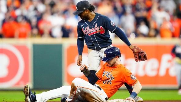 Astros beat Braves 7-2, tie up World Series