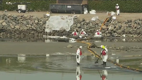 Huntington Beach oil spill: Shipping container company being investigated