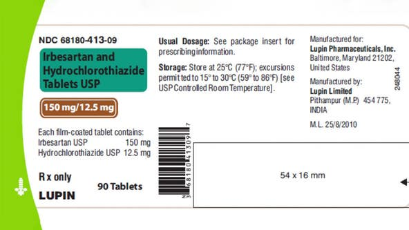 Blood pressure medication recalled over possibly containing cancer-causing 'impurity'