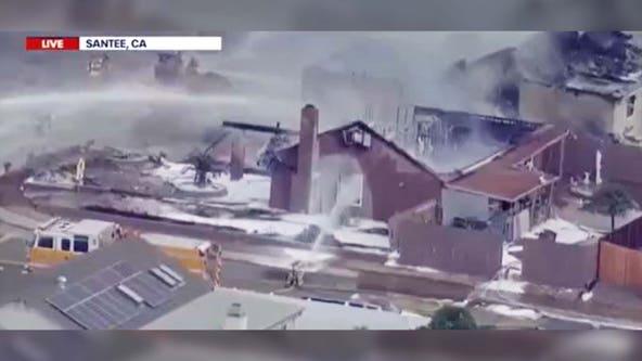 California plane crash: UPS truck hit, homes ablaze, 'multiple' fatalities