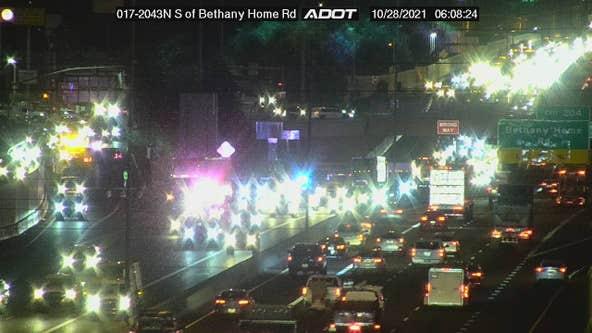 DPS: Pedestrian killed in crash on I-17 in Phoenix
