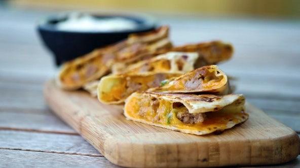 Taste of TNF recipe: Brat and cheese quesadillas