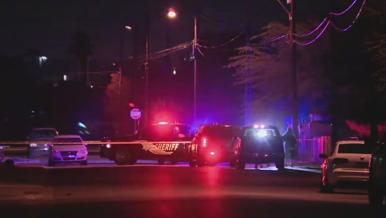 The scene of a homicide in Guadalupe