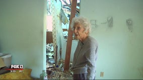100-year-old hurricane victim still feels 'blessed,' despite damage