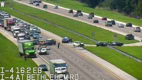 Crash closes I-4 eastbound lanes in Plant City
