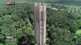 Above the gardens: Bird's-eye view of Bok Tower