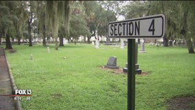 More than 60 slaves could be buried in unmarked graves at Oaklawn Cemetery