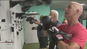 Athletes fight the progression of Parkinson's with boxing