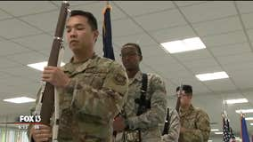 Practice makes perfect for MacDill AFB's busy honor guard