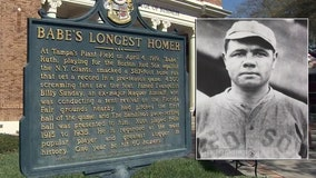 Did Babe Ruth's legendary 1919 Tampa home run really go 587 feet?