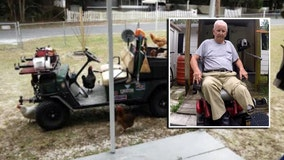 Custom cart stolen from disabled Crystal River man