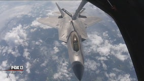 Pilots from 20 countries train in Tampa on aerial refueling simulator