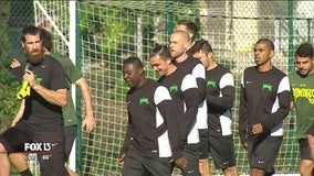 Rowdies prepare for season in England
