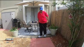 Tampa General staff give coworker's yard a makeover