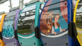 Disney World unveils colorful gondolas, which will transport guests between parks and hotels