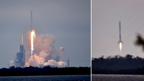 Historic launch, dramatic landing for SpaceX
