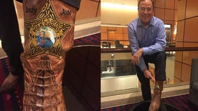 Even Sheriff Grady Judd's gator-skin boots have a badge