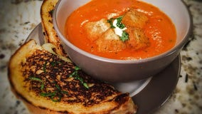 Good Day Gourmet: Provolone-Fontina grilled cheese with tomato-basil bisque